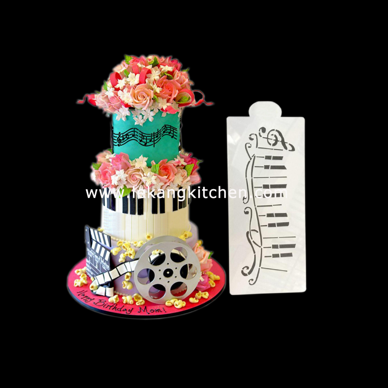Cake Decoration Stencil (Music)