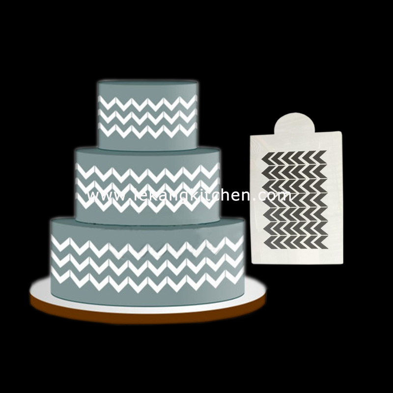 Cake Decoration Stencil (Wave)