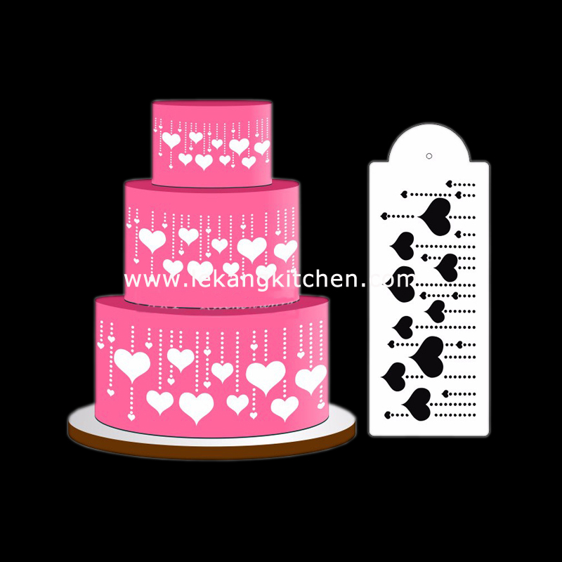 Cake Decoration Stencil (Heart)