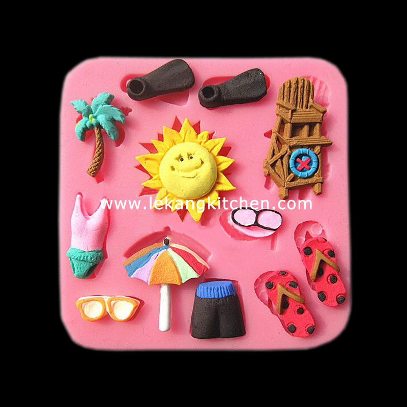 Silicone Cake Mould (Beach)